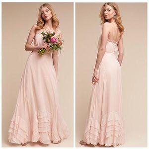 BHLDN. Watters&Watters long raffled dress